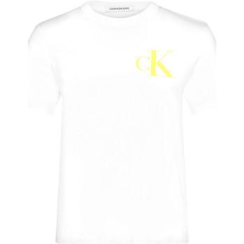 Υφασμάτινα Γυναίκα T-shirt με κοντά μανίκια Calvin Klein Jeans J20J213562 λευκό