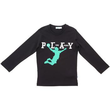 Υφασμάτινα Παιδί Μπλουζάκια με μακριά μανίκια Melby 70C5524 Μαύρος