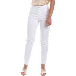 Υφασμάτινα Γυναίκα Παντελόνια Chino/Carrot NeroGiardini E060100D λευκό