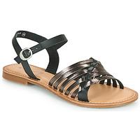 Παπούτσια Γυναίκα Σανδάλια / Πέδιλα Kickers ETCETERA Black / Argenté