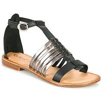 Παπούτσια Γυναίκα Σανδάλια / Πέδιλα Kickers ETIKET Black / Argenté
