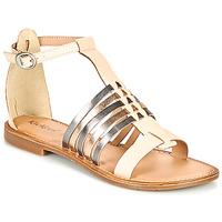 Παπούτσια Γυναίκα Σανδάλια / Πέδιλα Kickers ETIKET Ροζ / Μεταλικό / Argenté