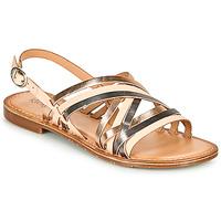 Παπούτσια Γυναίκα Σανδάλια / Πέδιλα Kickers ETRUSK Ροζ / Μεταλικό / Argenté
