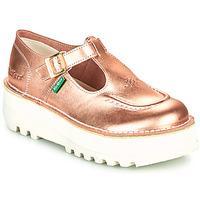 Παπούτσια Γυναίκα Μπαλαρίνες Kickers KICKOUSTRAP Ροζ / Μεταλικό