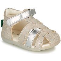 Παπούτσια Κορίτσι Σανδάλια / Πέδιλα Kickers BIGFLO-2 Silver
