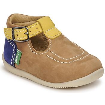 Παπούτσια Αγόρι Σανδάλια / Πέδιλα Kickers BONBEK-2 Beige / Yellow / Marine