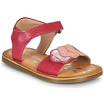 Παπούτσια Κορίτσι Σανδάλια / Πέδιλα Kickers DYASTAR Ροζ