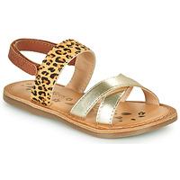 Παπούτσια Κορίτσι Σανδάλια / Πέδιλα Kickers DYACROSS Gold / Leopard