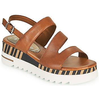 Παπούτσια Γυναίκα Σανδάλια / Πέδιλα Marco Tozzi ANTINI Cognac