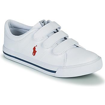 Παπούτσια Παιδί Χαμηλά Sneakers Polo Ralph Lauren ELMWOOD EZ Άσπρο