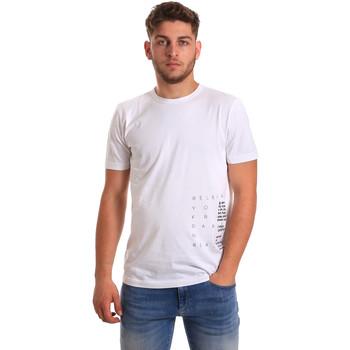 Υφασμάτινα Άνδρας T-shirt με κοντά μανίκια Antony Morato MMKS01223 FA100144 λευκό