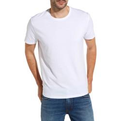 Υφασμάτινα Άνδρας T-shirt με κοντά μανίκια Wrangler W7500F λευκό
