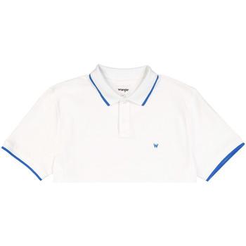 Υφασμάτινα Άνδρας Πόλο με κοντά μανίκια  Wrangler W7D5K4989 λευκό