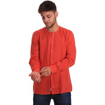 Υφασμάτινα Άνδρας Πουκάμισα με μακριά μανίκια Gaudi 811BU45022 το κόκκινο
