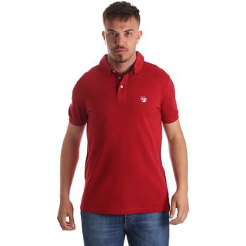 Υφασμάτινα Άνδρας Πόλο με κοντά μανίκια  Gaudi 911BU64063 το κόκκινο