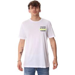 Υφασμάτινα Άνδρας T-shirt με κοντά μανίκια Antony Morato MMKS01786 FA100189 λευκό