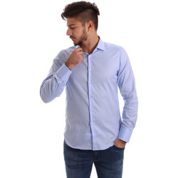 Υφασμάτινα Άνδρας Πουκάμισα με μακριά μανίκια Gmf 962103/03 Μπλε