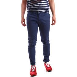 Υφασμάτινα Άνδρας Παντελόνια Chino/Carrot Sei3sei PZV21 7183 Μπλε