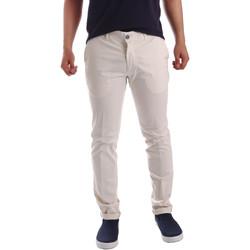 Υφασμάτινα Άνδρας Παντελόνια Chino/Carrot Sei3sei PZV21 7148 λευκό