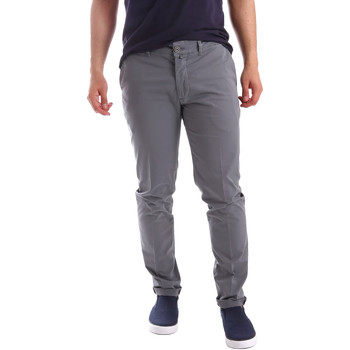 Υφασμάτινα Άνδρας Παντελόνια Chino/Carrot Sei3sei PZV21 7148 Γκρί