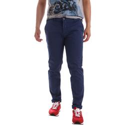 Υφασμάτινα Άνδρας Παντελόνια Chino/Carrot Sei3sei PZV89 71336 Μπλε