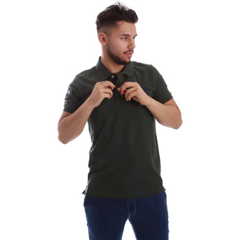Υφασμάτινα Άνδρας Πόλο με κοντά μανίκια  Key Up 255QG 0001 Πράσινος
