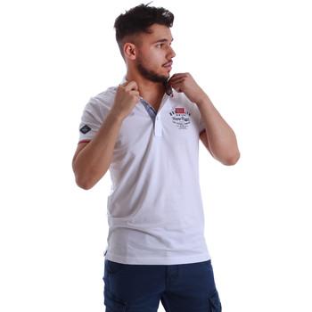 Υφασμάτινα Άνδρας Πόλο με κοντά μανίκια  Key Up 262RG 0001 λευκό