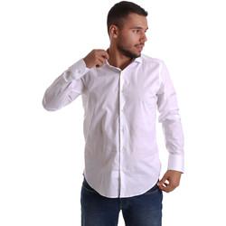 Υφασμάτινα Άνδρας Πουκάμισα με μακριά μανίκια Gmf 971250/01 λευκό