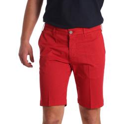 Υφασμάτινα Άνδρας Σόρτς / Βερμούδες Sei3sei PZV132 71336 το κόκκινο