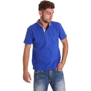 Υφασμάτινα Άνδρας Πόλο με κοντά μανίκια  Bradano 000116 Μπλε