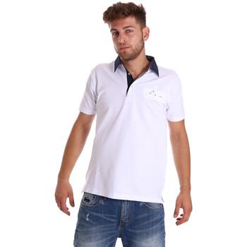 Υφασμάτινα Άνδρας Πόλο με κοντά μανίκια  Bradano 000115 λευκό