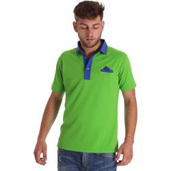Υφασμάτινα Άνδρας Πόλο με κοντά μανίκια  Bradano 000114 Πράσινος