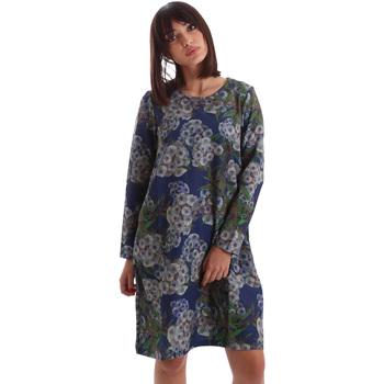 Υφασμάτινα Γυναίκα Κοντά Φορέματα Gazel AB.AB.ML.0026 Μπλε