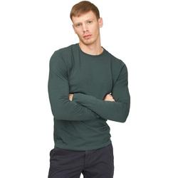 Υφασμάτινα Άνδρας Μπλουζάκια με μακριά μανίκια Gas 300187 Πράσινος