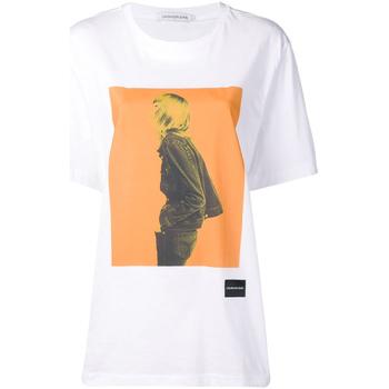 Υφασμάτινα Γυναίκα T-shirt με κοντά μανίκια Calvin Klein Jeans J20J208491 λευκό