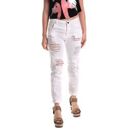 Υφασμάτινα Γυναίκα Boyfriend jeans Fornarina BE171L94D877KM λευκό