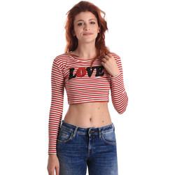 Υφασμάτινα Γυναίκα Μπλουζάκια με μακριά μανίκια Fornarina BE175L14JG0976 το κόκκινο