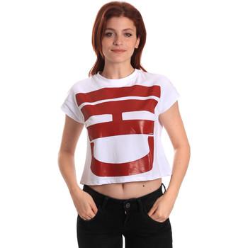 Υφασμάτινα Γυναίκα T-shirt με κοντά μανίκια Fornarina BE175L31JG0709 λευκό