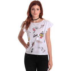 Υφασμάτινα Γυναίκα T-shirt με κοντά μανίκια Fornarina BE175L40JG0709 λευκό