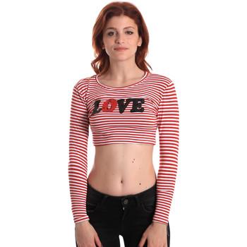 Υφασμάτινα Γυναίκα Μπλουζάκια με μακριά μανίκια Fornarina SE175L14JG0976 το κόκκινο