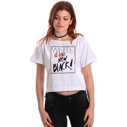 Υφασμάτινα Γυναίκα T-shirt με κοντά μανίκια Fornarina SE175L28JG0709 λευκό