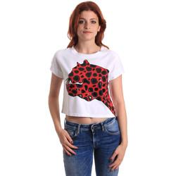 Υφασμάτινα Γυναίκα T-shirt με κοντά μανίκια Fornarina SE175L32JG0709 το κόκκινο