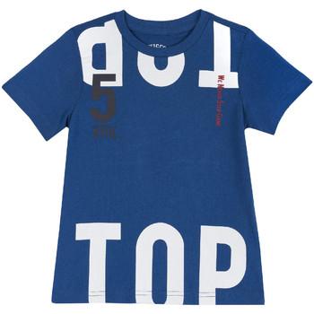 Υφασμάτινα Παιδί T-shirt με κοντά μανίκια Chicco 09006586000000 Μπλε