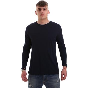 Υφασμάτινα Άνδρας Μπλουζάκια με μακριά μανίκια Antony Morato MMKL00264 FA100066 Μπλε