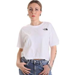 Υφασμάτινα Γυναίκα T-shirt με κοντά μανίκια The North Face NF0A4SYCFN41 λευκό