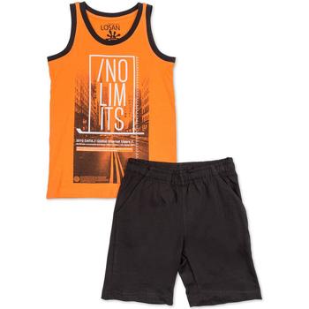 Υφασμάτινα Αγόρι Σετ Losan 713 8044AA Πορτοκάλι