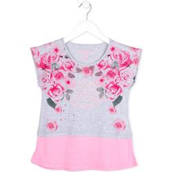 Υφασμάτινα Κορίτσι T-shirt με κοντά μανίκια Losan 714 1009AB Γκρί