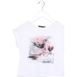 Υφασμάτινα Κορίτσι T-shirt με κοντά μανίκια Losan 714 1014AB λευκό