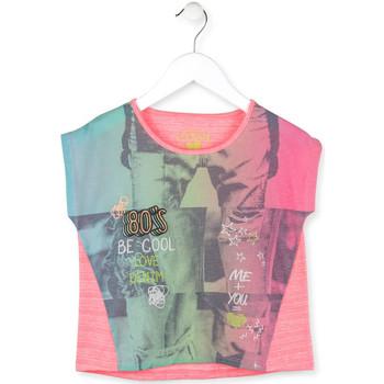 Υφασμάτινα Κορίτσι T-shirt με κοντά μανίκια Losan 714 1017AB Ροζ