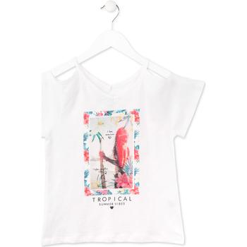 Υφασμάτινα Κορίτσι T-shirt με κοντά μανίκια Losan 714 1026AB λευκό